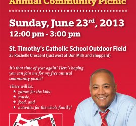 Michael Coteau's Annual Community Picnic