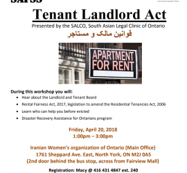 Tenant Landlord Act Workshop