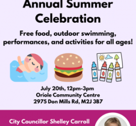 Councillor Carroll`s Annual Summer Celebration