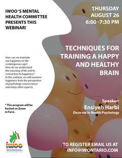 Training a happy & healthy brain webinar